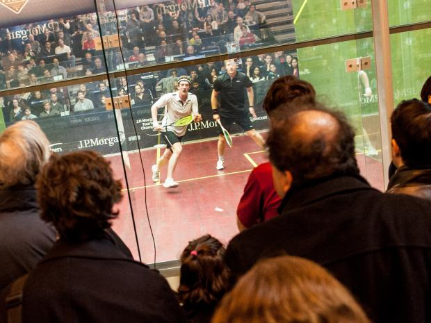 The 16th Annual Squash Tournament of Champions takes place in Vanderbilt Hall, Grand Central Terminal on Jan. 19, 2013.