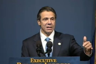 Gov. Andrew Cuomo presented his 2013 budget on Jan. 22, 2013.