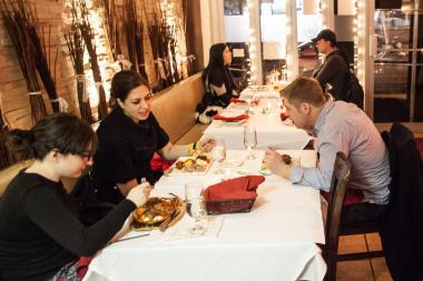 Customers enjoy their dinners at the Turkish Grill restaurant in Queens on Jan. 24th, 2013.
