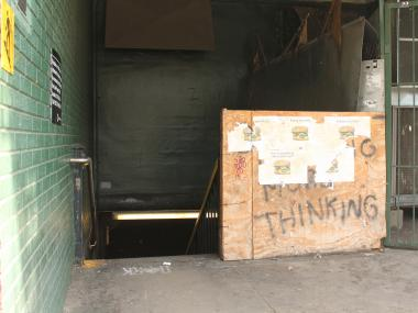 MTA says its landlord has failed to make repairs to the entrance of the Dyckman Street A train station.