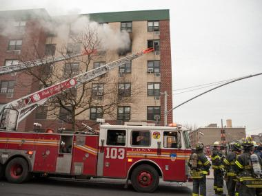 BROWNSVILLE - A fire broke out in apartment 5C at the Remeeder Houses at 580 Sutter Avenue in Brooklyn. No injuries were reported.