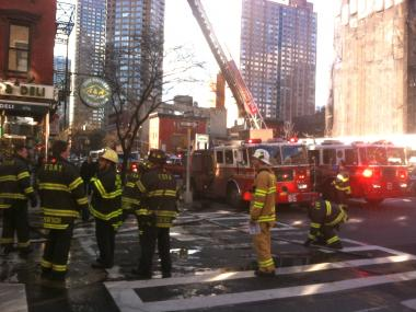 The fire broke out at 456 W. 45th St. on Jan. 31, 2013.