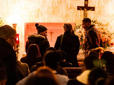 The wake of Edith Rojas - who was stabbed to death by her ex-boyfriend Jonathan Pena-Castillo on New Year's Eve - takes place in Washington Heights on Dec. 4th, 2013.