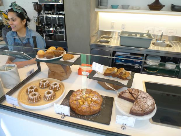The cafe offers prepared foods with an emphasis on fresh, seasonal ingredients.