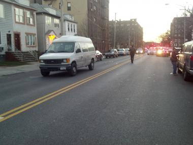 A girl was struck by a car on East 7th Street and Avenue O in Brooklyn on Jan. 22, 2013.