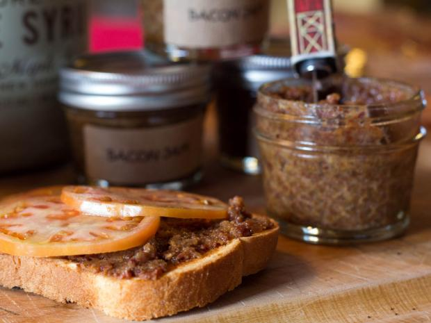 Heidi's Homemade makes bacon jam for customers to spread on sandwiches and burgers.