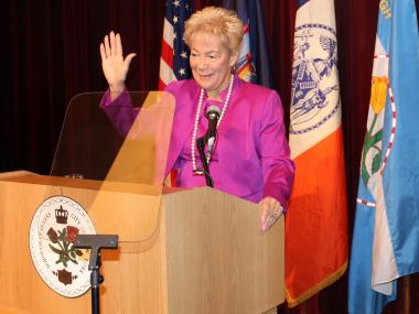 In her last state of the borough address Marshall sums up her three eventful terms.