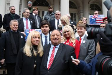 Billionaire Candidate John Catsimatidis launched his bid for mayor on Tuesday, Jan. 29, 2013.