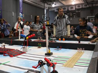 On January 12, 2013 over 400 students competed at FIRST Lego League's Brooklyn Qualifier at Polytechnic Institute of New York University.
