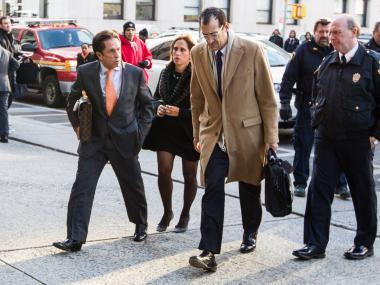 Mark Jay Heller, the lawyer for Lindsay Lohan talks to the media outside Manhattan Supreme Court on Jan. 7th, 2013.