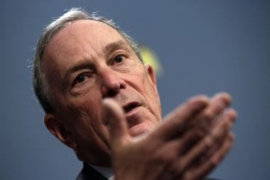 Mayor Michael Bloomberg during his preliminary budget announcement at City Hall on Jan. 29, 2013.