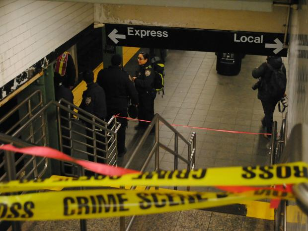 A homeless man leapt in front of a northbound 2 train within the Times Square - 42nd Street Station and died on Tuesday Jan. 22, 2013, officials said.