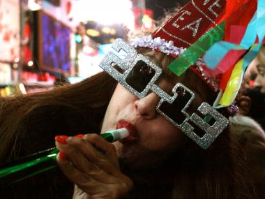 People from all over the world celebrated New Year's Eve in Times Square on Dec. 31, 2012.