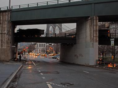 A 56-year-old man was hit by a car on Old Fulton Street on Jan. 16, 2013, the FDNY said.