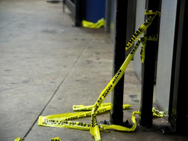 A man was rushed to the hospital after being shot in the head at 181st Street and Mohegan Avenue in The Bronx, Jan. 31, 2013.