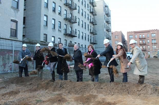 Officials broke ground on P.S. 313, saying the new school will help overcrowding in Queens District 24.