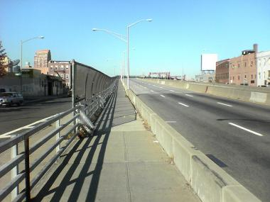 The city is exploring the possibility of adding a bike lane to the bridge.