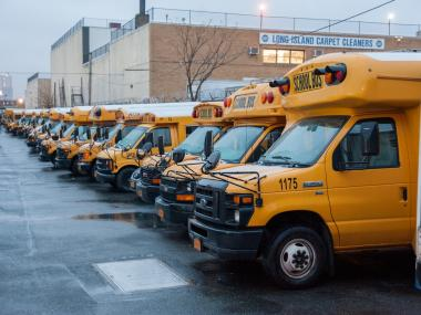 School bus drivers are on strike.