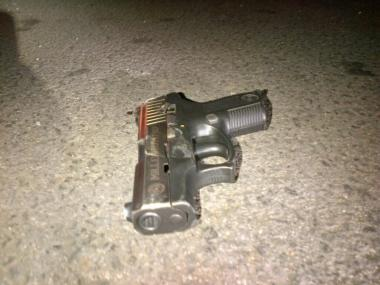 The Millennium Pro 40 caliber semi-automatic handgun that was recovered from a Sutter Avenue police-involved shooting scene on January 4, 2013.
