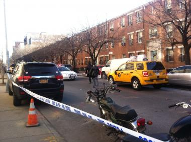 The elderly woman was struck by a vehicle Thursday Jan. 24, 2013, cops said.