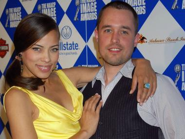 A photo agent claims his TV star ex-wife lured him to a Park Slope burger joint and her new husband beat him up.