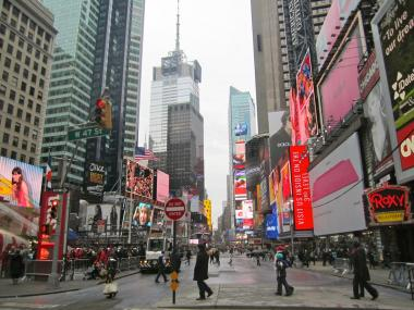 Super-storm Sandy didn't deter Manhattan tourists last November, as Times Square hotels reported their highest occupancy rates for the month since 2003, the Times Square Alliance reported Wednesday, Feb. 13, 2013.