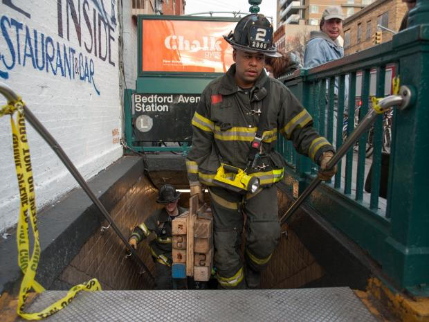 A woman was struck by a Canarsie-bound L train within the Bedford Avenue station Monday Jan. 21, 2013.