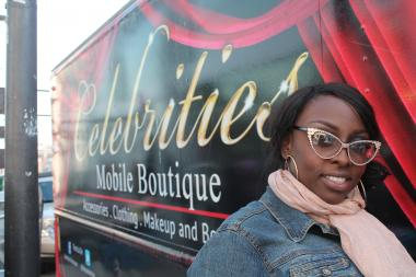 The truck that Nneka Green-Ingram uses to house her mobile boutique  Celebrities  was once used to deliver Cheetos. The metal shelves that held bags of chips are gone, sold for scrap and used to finance renovations to the truck. Now, there are giant eyelashes around the headlights and visitors to the truck looking for the glasses they saw the night before on the Real Housewives of Atlanta might find them on the glossy red Ikea shelves that hold rows of glittering costume jewlery.