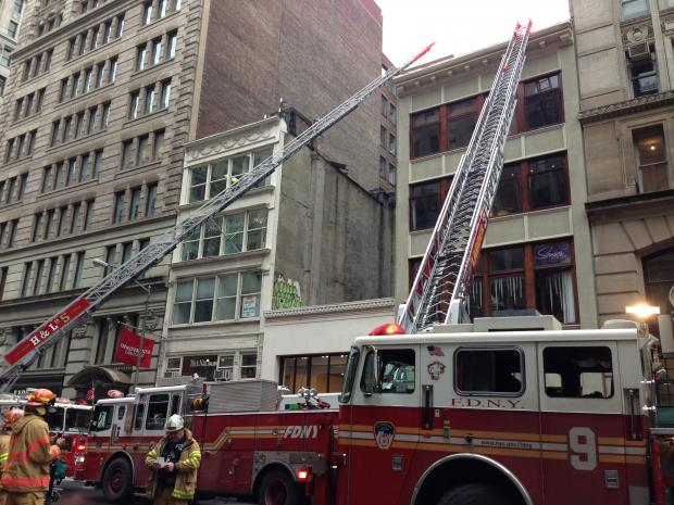 The blaze started in Human studio, on the third floor of 138 Fifth Ave. near Union Square.