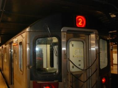 A southbound 2 train struck a person within the 110th Street Station on Tuesday Feb. 5, 2013.