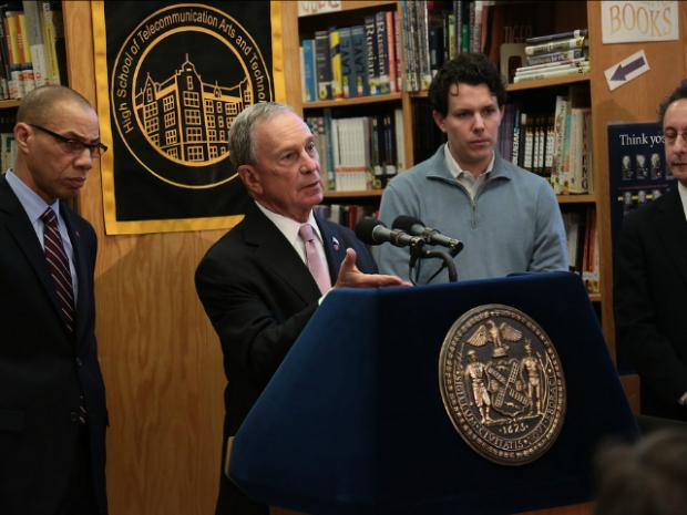 Mayor Michael Bloomberg announced the 20 schools that will get new software engineering programs on Feb. 25, 2013.