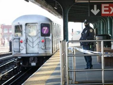 The 7 train was experiencing some delays ahead of Winter Storm Nemo on Friday Feb. 8, 2013.
