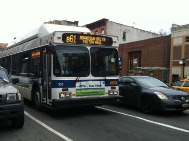 B61 Bus on Atlantic Avenue.