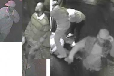 Police are looking for three men in connection with a beating in front of 914 Fulton St. Feb. 16, 2013.