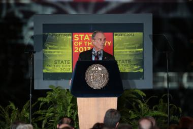 Mayor Bloomberg Delivers His Final State of the City Speech.