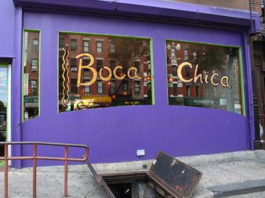 Boca Chica, an East Village restaurant, opened in 1989.