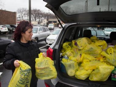 Residents stocked up on food, gas and water before Winter Storm Nemo hits.