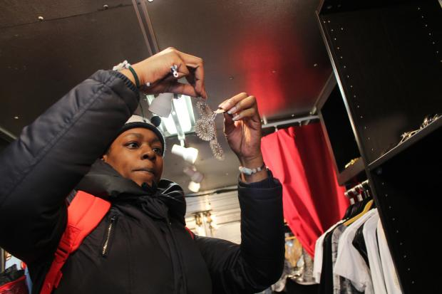 Nneka Green-Ingram converted a former delivery truck into a mobile boutique that she parks on 125th Street most days.