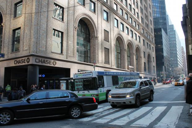 The city Department of Transportation is considering a plan to close a portion of Park Avenue in Pershing Square to install parking stations for the city's shared-bike program, Manhattan Community Board 5 said at its monthly meeting Thursday night, Feb. 14, 2013.