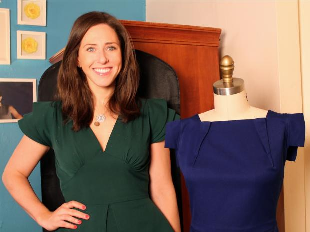 Carrie Hammer, a former Parsons the New School for Design student, runs a company that makes custom-made women's clothing.