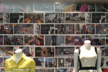 The DKNY store in Bangkok that photographer Brandon Stanton said used his work without his permission.