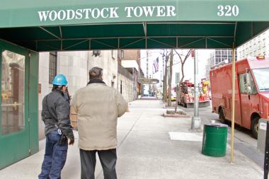 An electrical fire broke out in the basement of Woodstock Towers, located at 320 E. 42nd St., on Friday, Feb. 22, 2013.