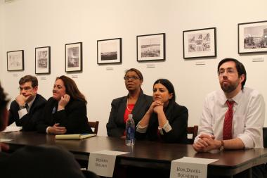 The Public Advocate candidate faced off for the first time Wednesday night in Queens.