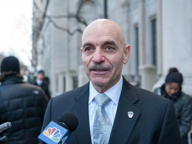 Outgoing Fire Commissioner Salvatore Cassano testified before the City Council on ambulance response times June 2, 2014.