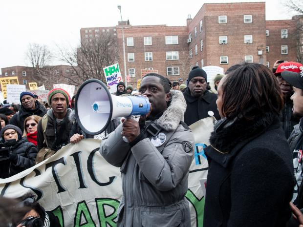 The one-year anniversary of the death of teenager Ramarley Graham takes place in the Bronx on Feb. 2, 2013.