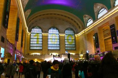 Hundreds gathered at Grand Central Terminal to celebrate the station's 100th birthday.