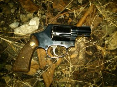 Cops said they recovered this .38-caliber revolver at the scene.