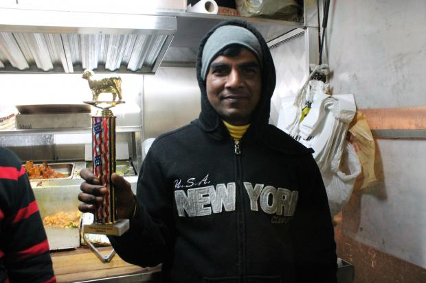 "Queens food bloggers and some lucky volunteers crowned a the ""Halalathon"" champion on Monday."