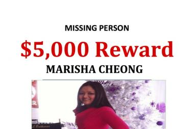 Marisha Cheong went missing in December. Her body washed up on a Queens beach over the weekend.