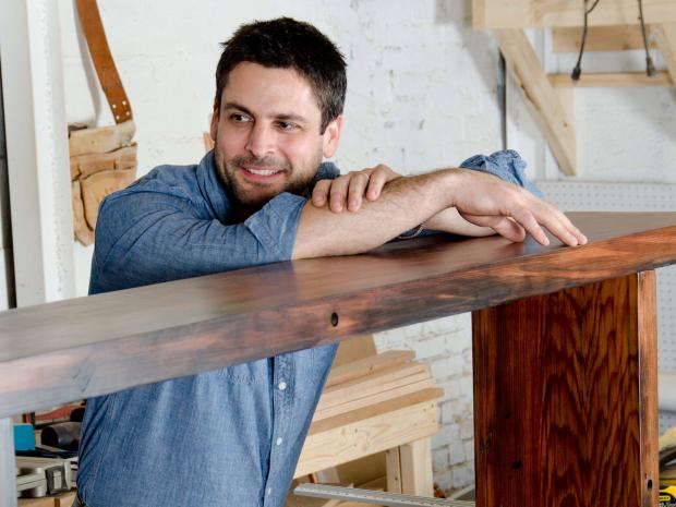 Mark Jupiter makes furniture from salvaged New York City wood.